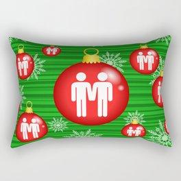 Merry Christmas - Gay Rectangular Pillow