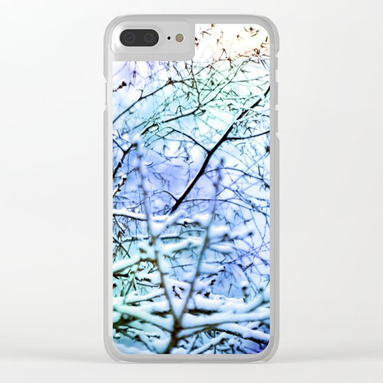 Winter Beauty Clear iPhone Case