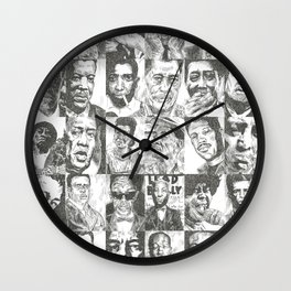 Blues Musicians Collection Wall Clock