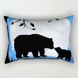 Moon and bears Rectangular Pillow