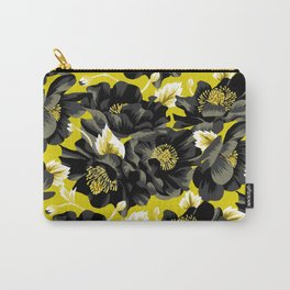 Mount Cook Lily - Yellow/Black Carry-All Pouch