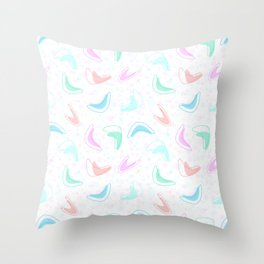 Retro Boomerang Diner Countertop Throw Pillow