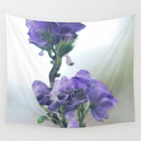 iris Wall Tapestries featuring Iris by Bella Blue Photography