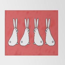Usagi Rabbits Throw Blanket