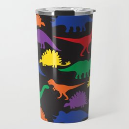 Dinosaurs - Black Travel Mug