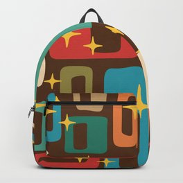 Retro Mid Century Modern Abstract Pattern 222 Backpack