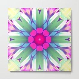 Soft coloured kaleidoscope fantasy flower Metal Print