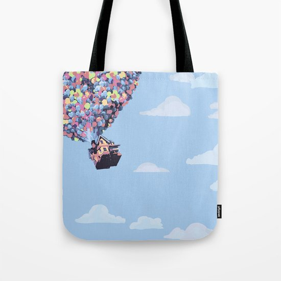 disney pixar up.. balloons and sky with house Tote Bag