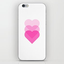 pink hearts iPhone Skin