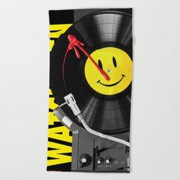 """""""Bloody Turntable"""" Watchmen fan art Beach Towel"""