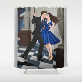 clandestine kiss Shower Curtain