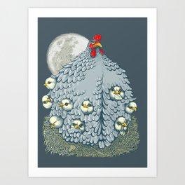hen ship Art Print