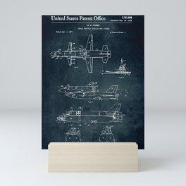 Space shuttle vehicle Mini Art Print