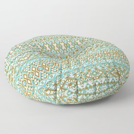 Mint & Gold Tribal Beach Floor Pillow