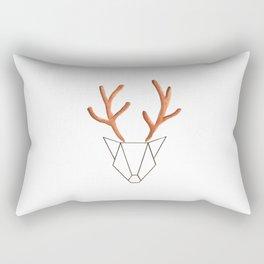 Cerf Origami Rectangular Pillow