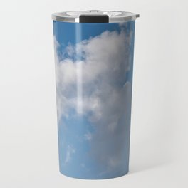 Floating cotton candy with blue Travel Mug