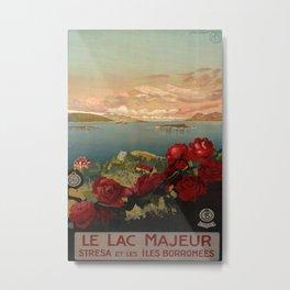 Le Lac Majeur Vintage Travel Poster Metal Print