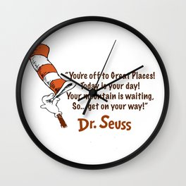 Off to great places Wall Clock