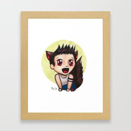 Too Excited to Howl Framed Art Print