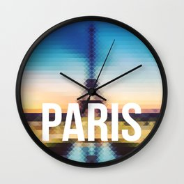 Paris - Cityscape Wall Clock