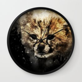Cheeta Cub Wall Clock