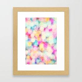 Drops of Rainbow Framed Art Print