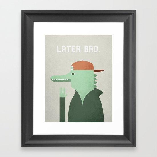 Later Gator Framed Art Print