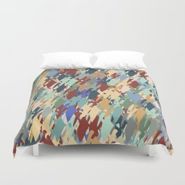Windy Retro Orchard   Duvet Cover