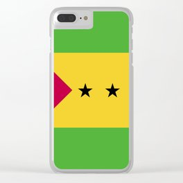 Sao Tome and Principe flag emblem Clear iPhone Case
