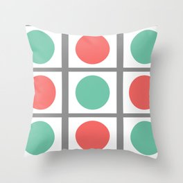 Minimal Abstract Lucite green, Coral, Grey, Honey, and White 03 Throw Pillow