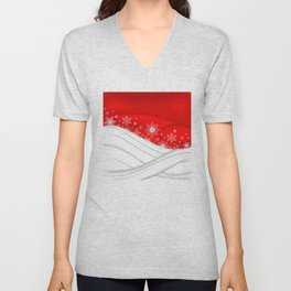 Abstract Christmas background Unisex V-Neck