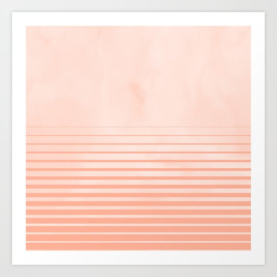 Sweet Life Peach Coral Gradient Art Print