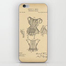 1875 Patent Corset iPhone Skin