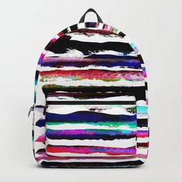 colorful brush strokes design Backpack