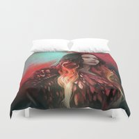 phoenix Duvet Covers featuring Phoenix by Georgina Elizabeth