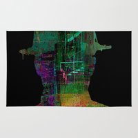 oil Area & Throw Rugs featuring oil worker by Ganech joe