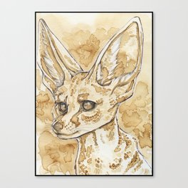Coffee Fennec Canvas Print