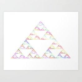 Rainbow Triangles Art Print
