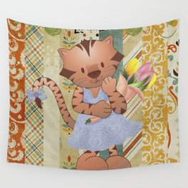 Sweet little tiger Wall Tapestry