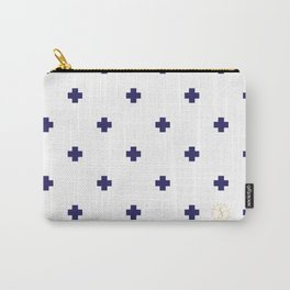 Modern Swiss - Bold Style Cross Plus Sign Carry-All Pouch