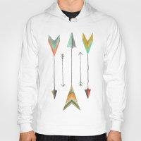 arrows Hoodies featuring Arrows by Hayley Lang