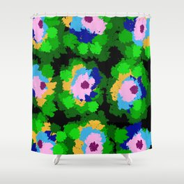 Flowers for Jackson Pollock, Matisse and Van Gogh. Shower Curtain