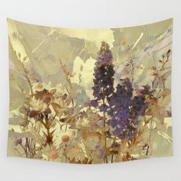 floral on beige Wall Tapestry