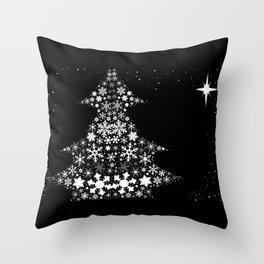Snowflake Christmas Tree Throw Pillow