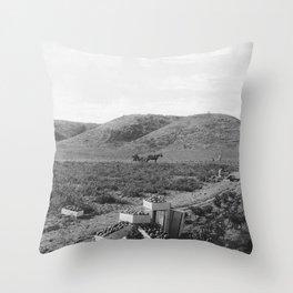 People Picking Tomatoes, Hammel & Denker Ranch Throw Pillow