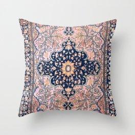 Sarouk  Antique West Persian Rug Throw Pillow