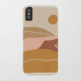 Minimal Abstract Art Landscape 3 iPhone Case