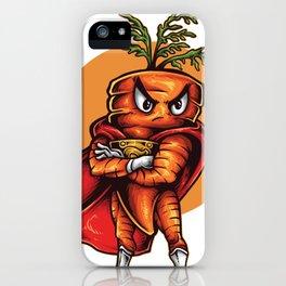 Angry Carrot Foodietoon Love Superhero  iPhone Case