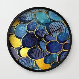 Abstract deep blue Wall Clock