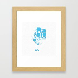 "Radiohead ""Last flowers"" Song / Blue version Framed Art Print"